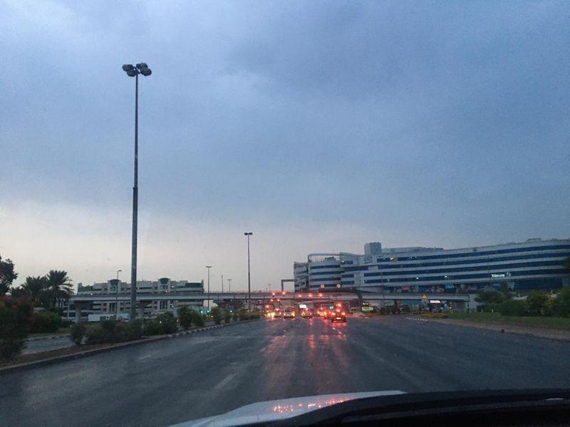 rain clouds Dubai dark sky