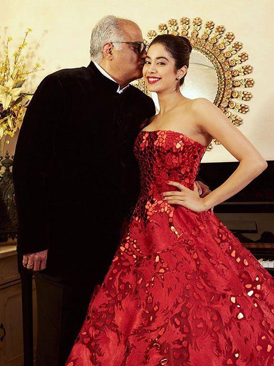 Bonie Kapoor with daughter Janhvi