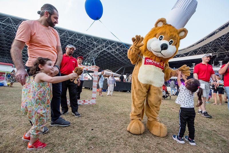 Kids are having fun during the 'Taste of Abu Dhabi'