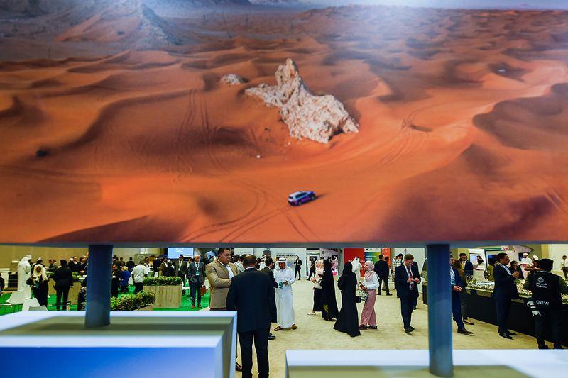 Visitors throng the Sharjah FDI Forum