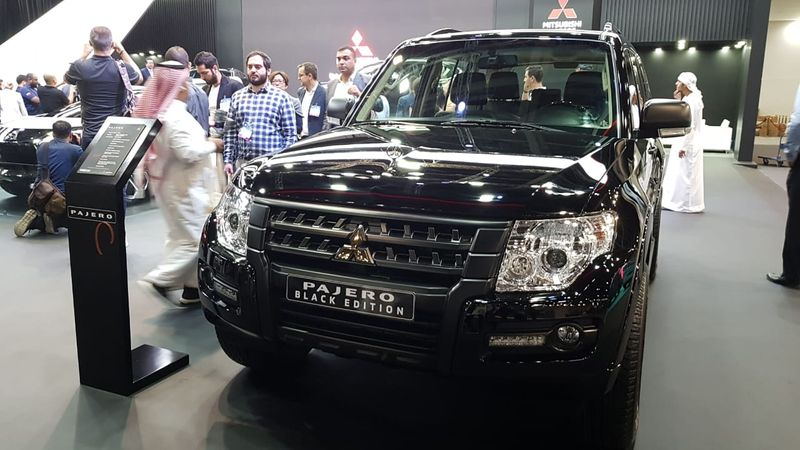 And the good old Pajero in Black Edition