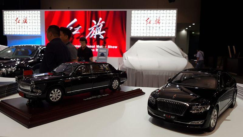 Miniature models from Hongqi Motors