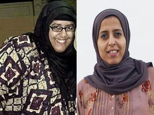 Tasqeen Zahra avant (à gauche) et après.