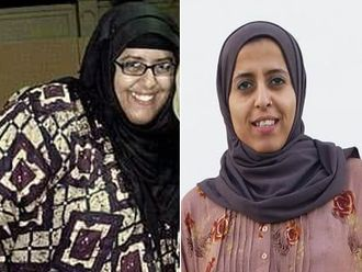 Tasqeen Zahra before (left) and after.