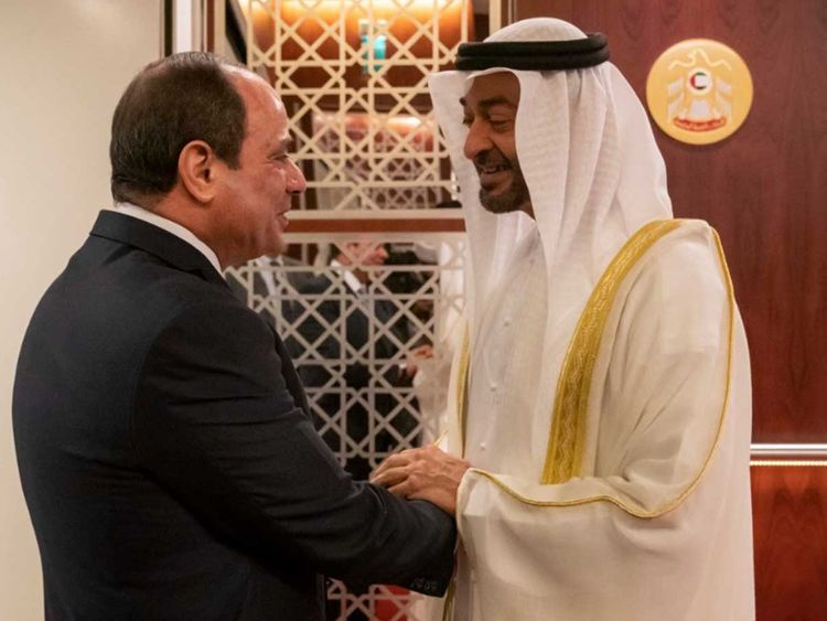 Mohammed bin Zayed with Al Sisi