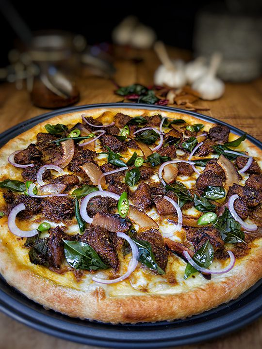 Weirdough Idukki Gold (Kerala Beef Pizza)
