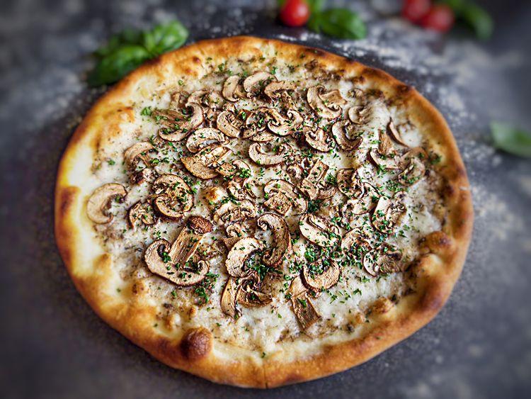 Weirdough Truffle Mushroom Pizza
