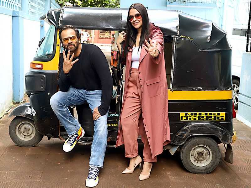 Rohit Shetty and actress Neha Dhupia