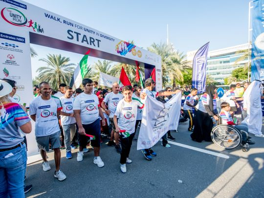 Photos: In support of the determined, thousands take part in 'Unity Run' in Dubai - Gulf News