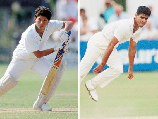 Sachin Tendulkar and Waqar Younis