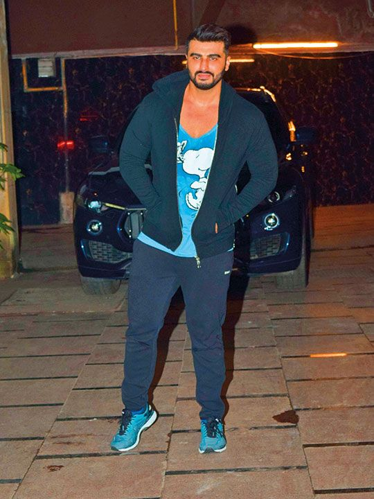 Arjun Kapoor was spotted at a gym in Mumbai.