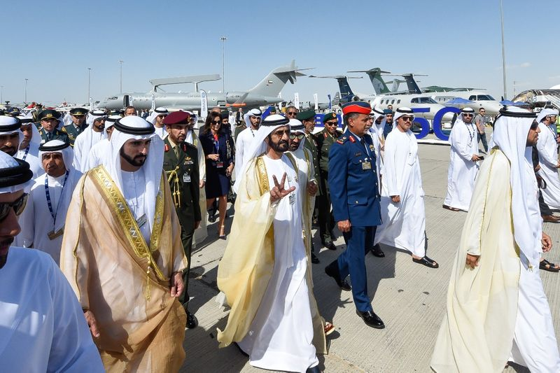 UAE Rulers at Dubai Airshow 2019