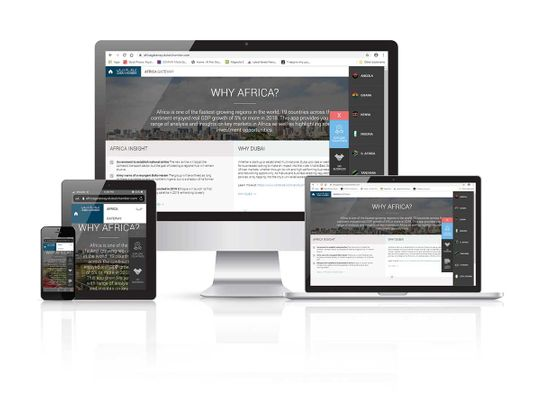 Dubai Chamber site promising African nations for web