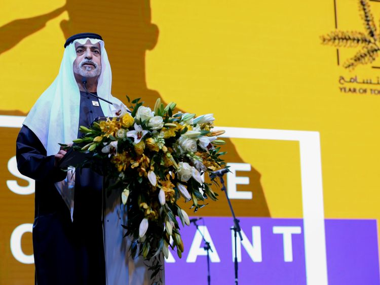 NAT 191117 Sheikh Nahyan addressing the gathering-1573990752560