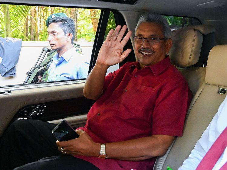 Sri Lanka's President-elect Gotabaya Rajaaksa