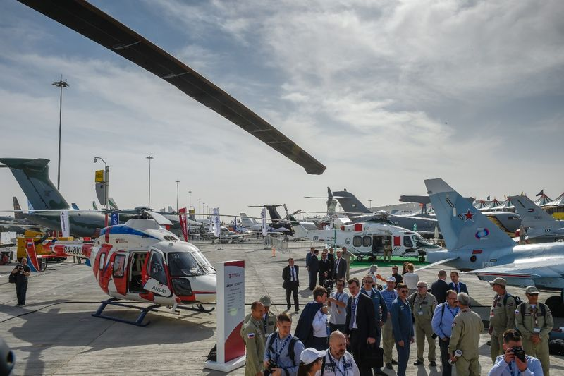 Visitors at Dubai Airshow 2019