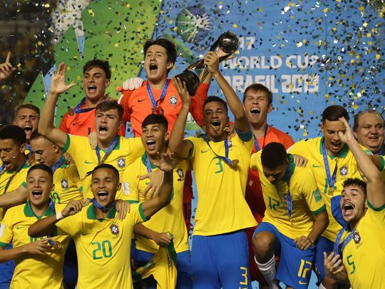 Late goals give Brazil World Cup title at home - Gulf News