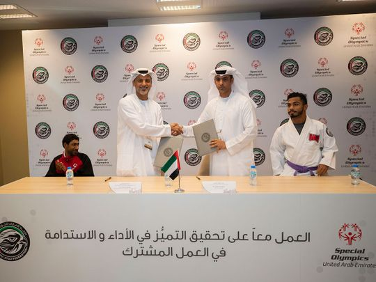UAEJJF signs MoU with Special Olympics UAE to aid development of athletes of determination - Gulf News