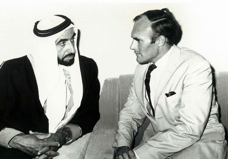 Julian Bullard and Sheikh Zayed.