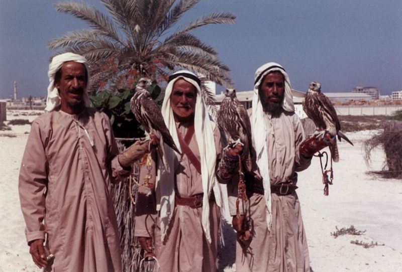 Margaret Bullard and three bedouins