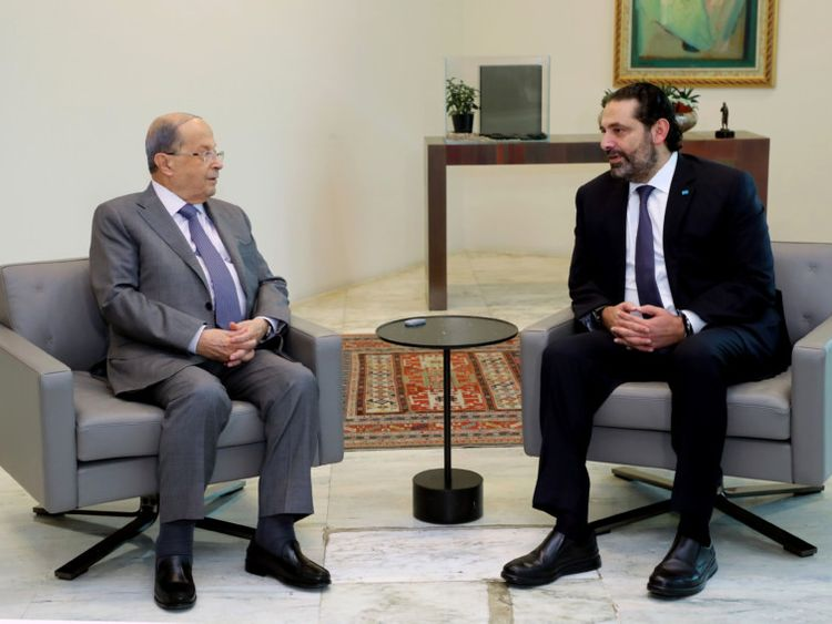 OPN 191119 Saad Hariri Michel Aoun-1574165506640