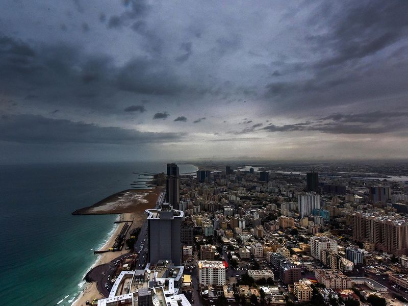 Cloudy weather, cloudy, clouds, rain in Ajman