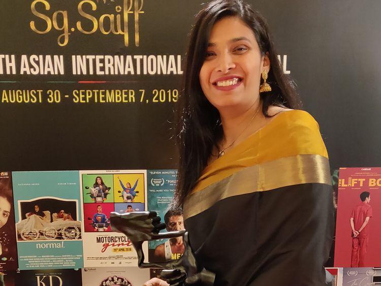 Director Madhumita  at Singapore International Film Festival where she won the Jury award for her film KD-1574258693330