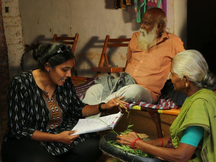 Madhumita  on the sets of KD-1574258683545