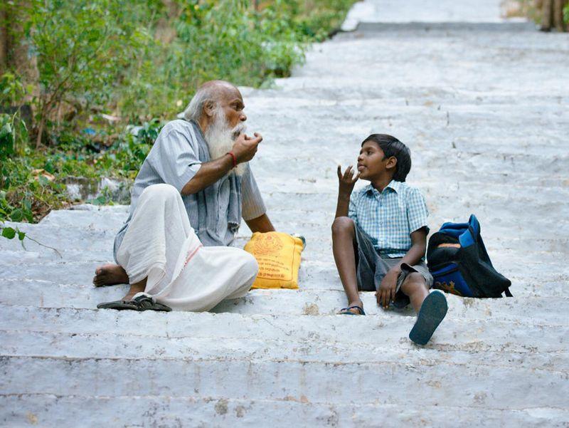 Mu Ramasamy and child actor Nagavishal in a still from KD-1574258675302