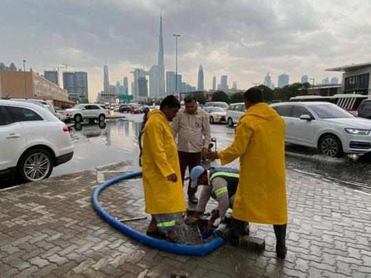 Dubai Clean up after rains