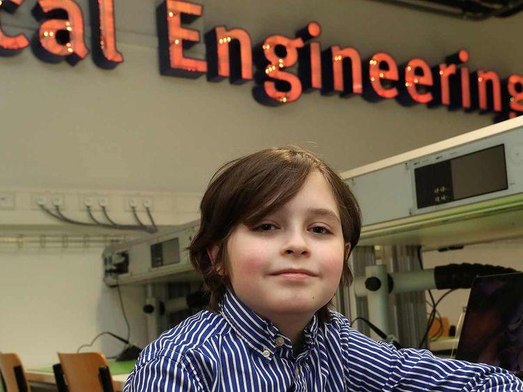 Nine-year-old Belgian student Laurent Simons