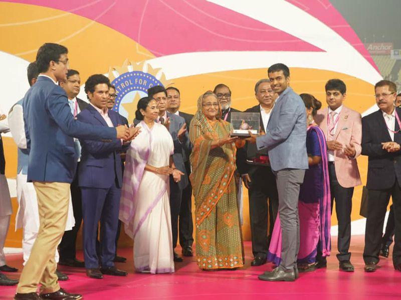 India's first day and night #PinkballTest match at Eden Gardens.
