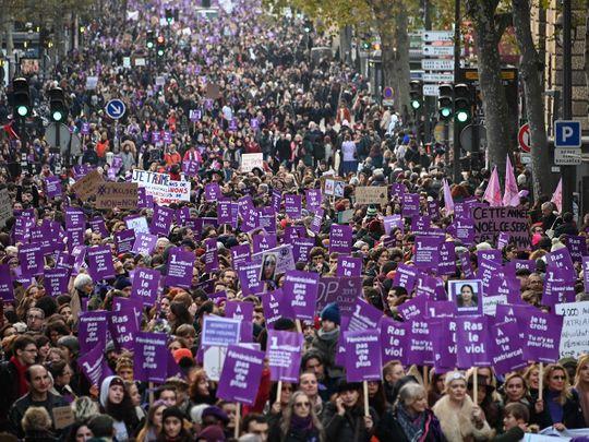 Paris domestic violence walk