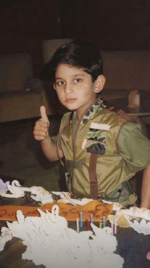 Sheikh Maktoum as a young boy