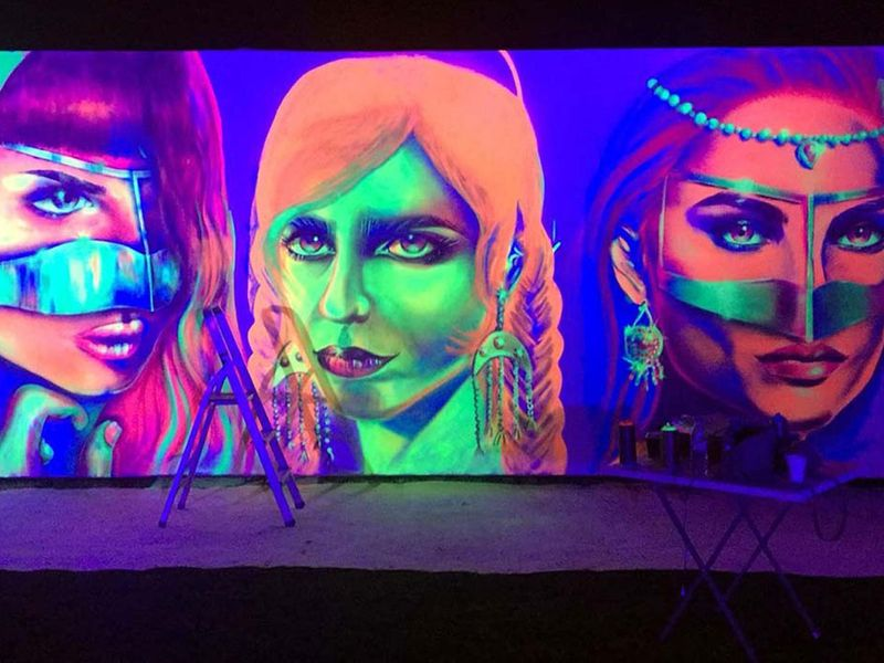 Largest glow in the dark painting