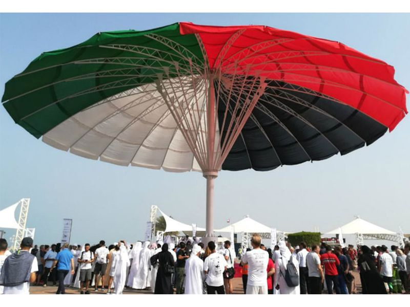 Largest umbrella, world record