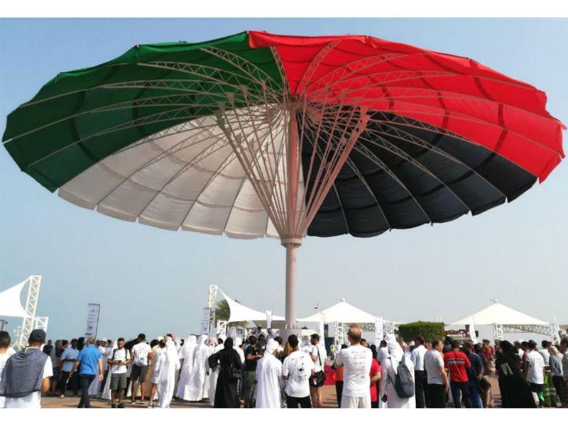 Largest umbrella, world record