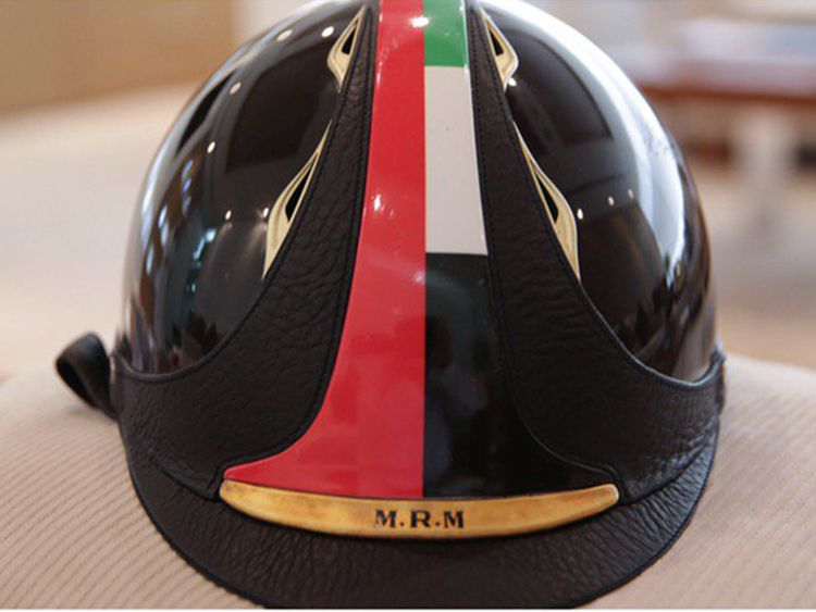 Shaikh Mohammad Bin Rashid's helmet has a world record of it's own