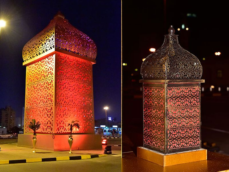 Sharjah houses the world's largest lantern