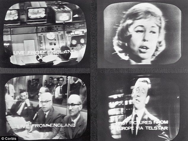 Television monitors in New York on July 12, 1962
