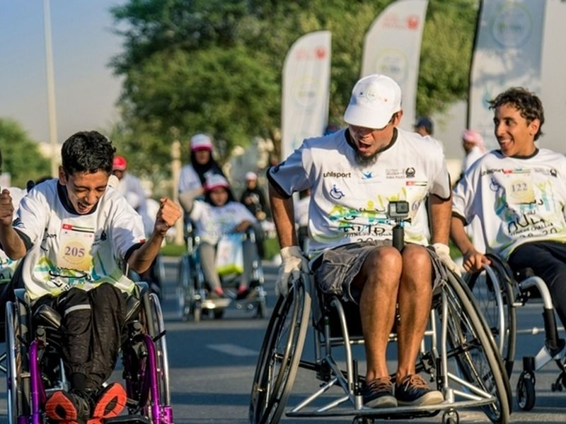 The largest wheelchair race, Dubai