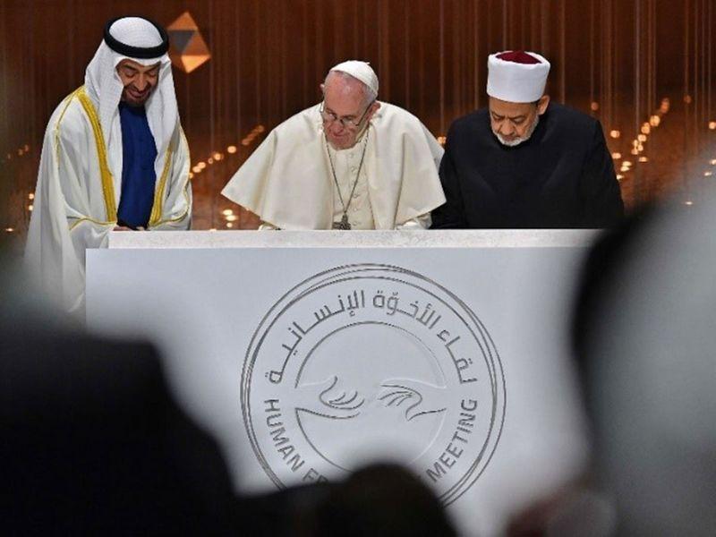 The pope in Abu Dhabi