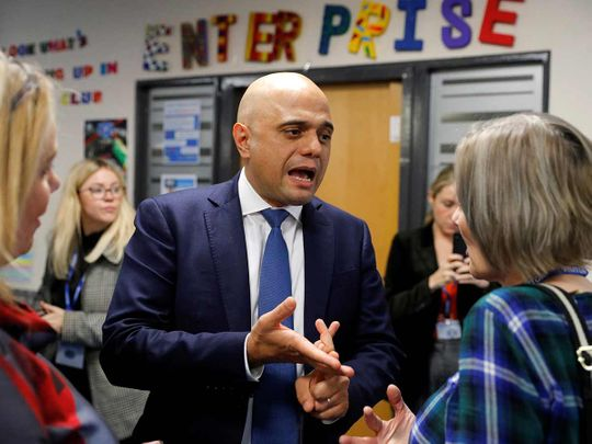 Britain's Chancellor of the Exchequer Sajid Javid 20191126