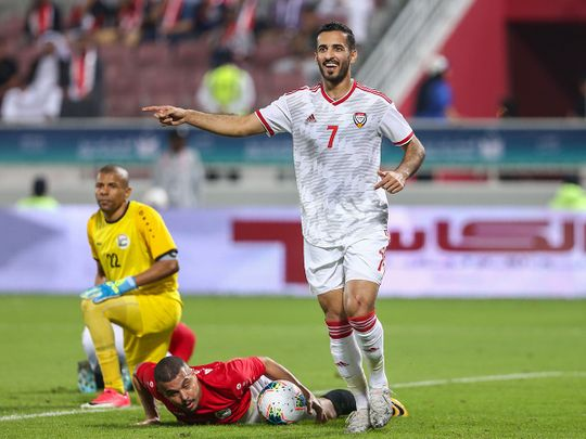 Gulf Cup: Ali Mabkhout hat-trick gives UAE perfect start