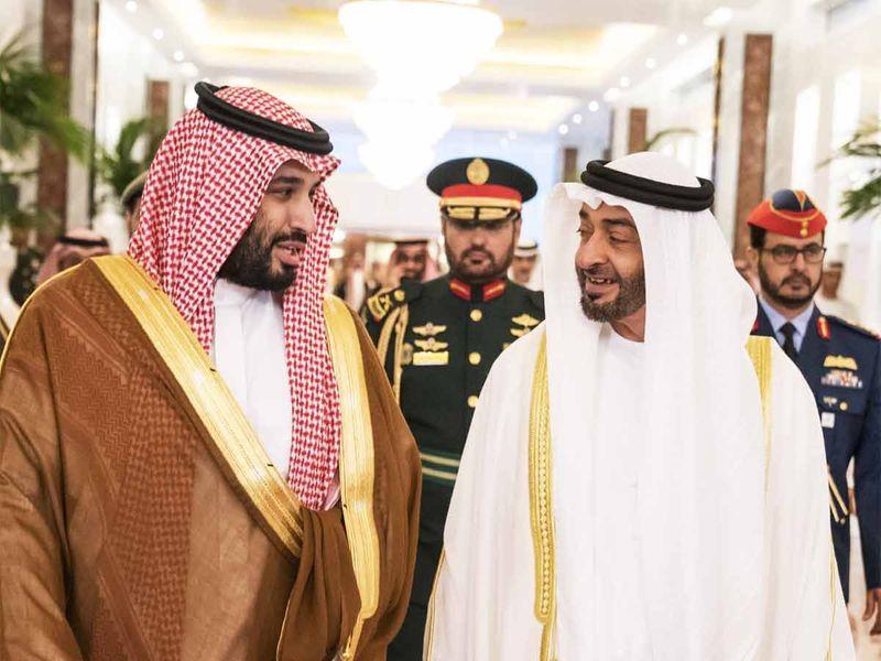 Sheikh Mohamed Bin Zayed receives Saudi Crown Prince Mohammad Bin Salman  20191127