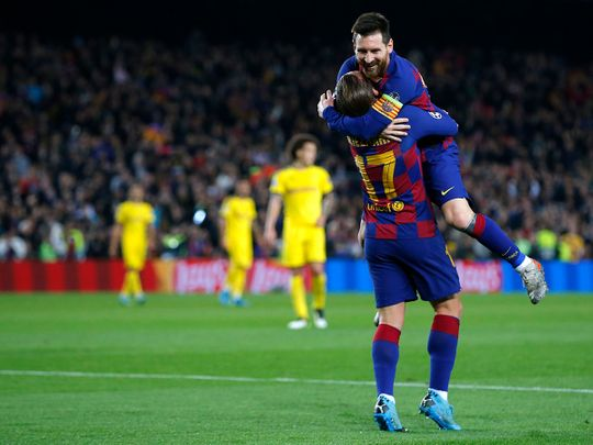 Champions League: Lionel Messi makes it 613 goals in 700 games for Barcelona
