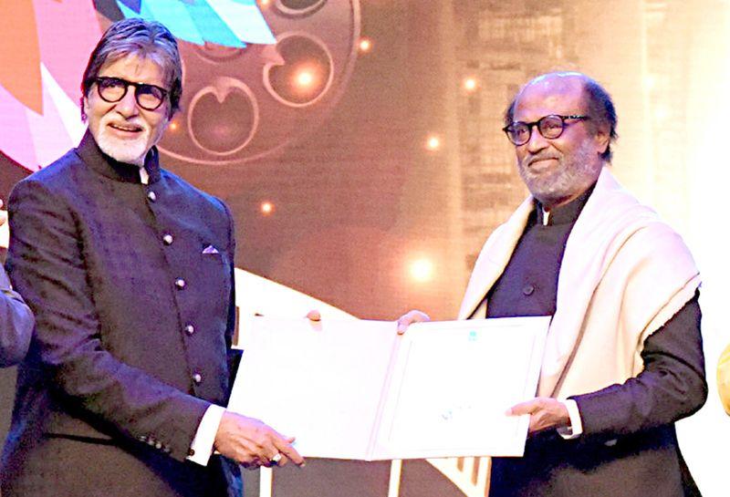 Amitabh Bachchan honors Cinestar Rajinikanth