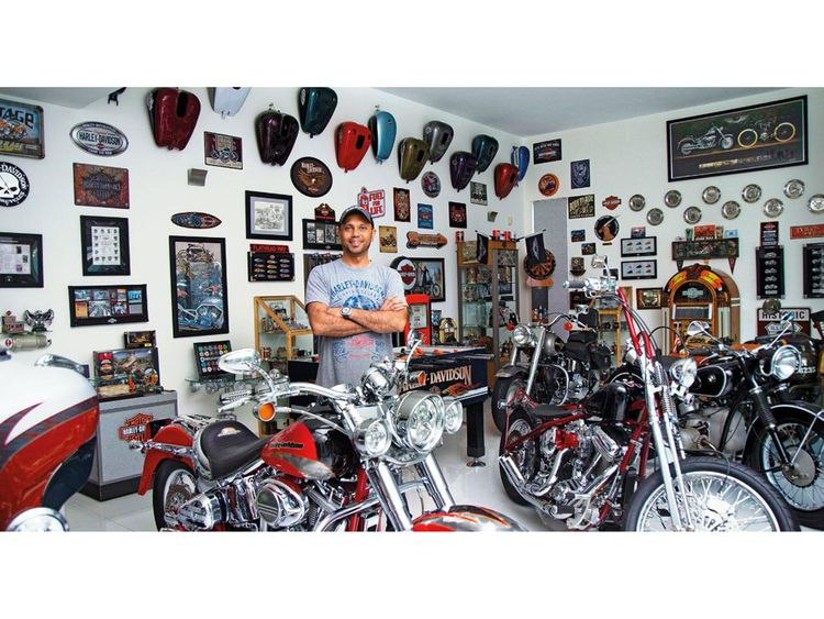 Auto Manjeet and his Corvette and bikes
