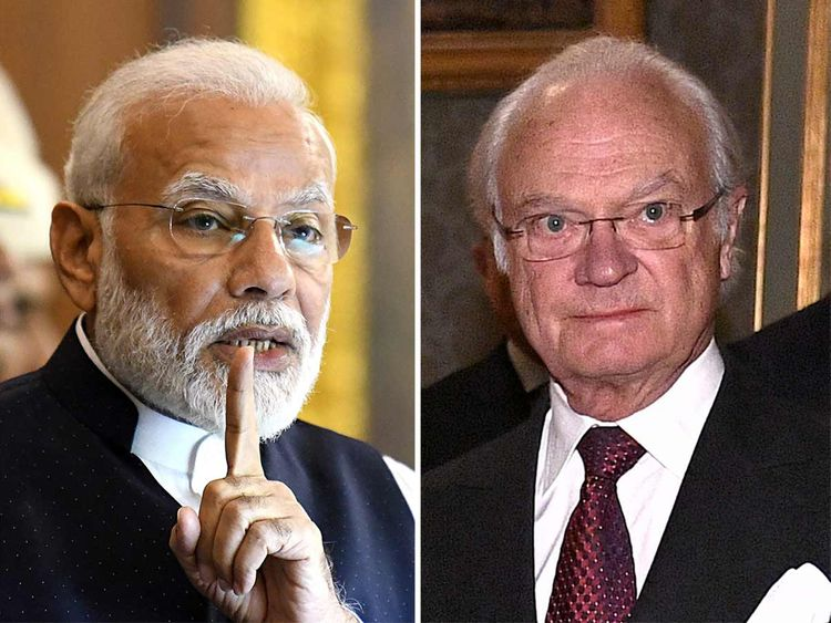 Modi and Sweden King Carl XVI Gustaf 20192218