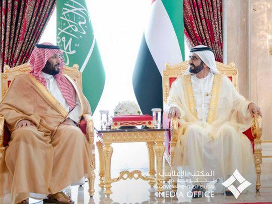 Sheikh Mohammed, Prince Salman